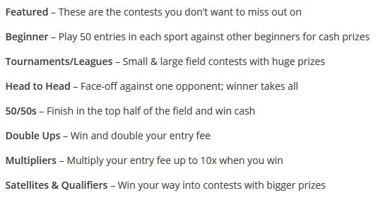 draftkings contest types - In Play Golf Betting Tips